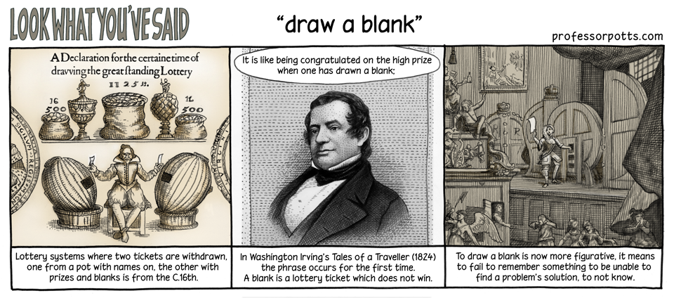 draw a blank English Idioms illustrated