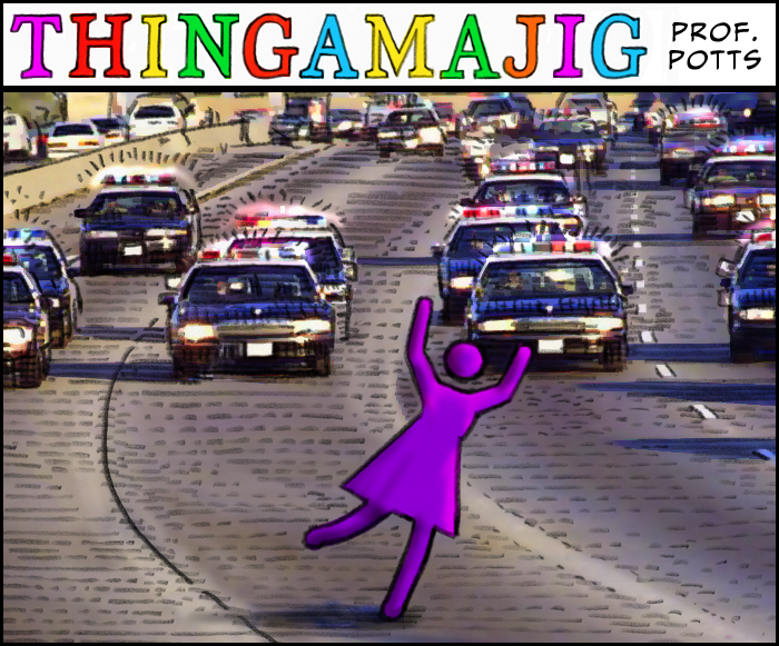 What do you call a girl who is being chased by cops...?