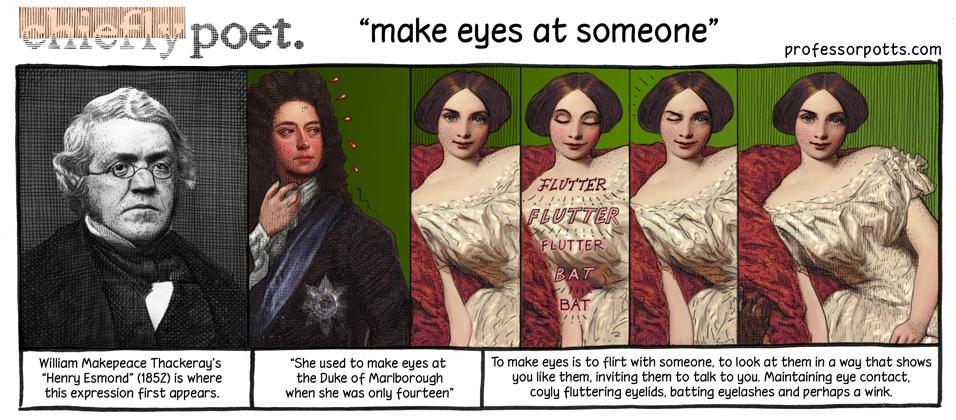Make eyes at someone