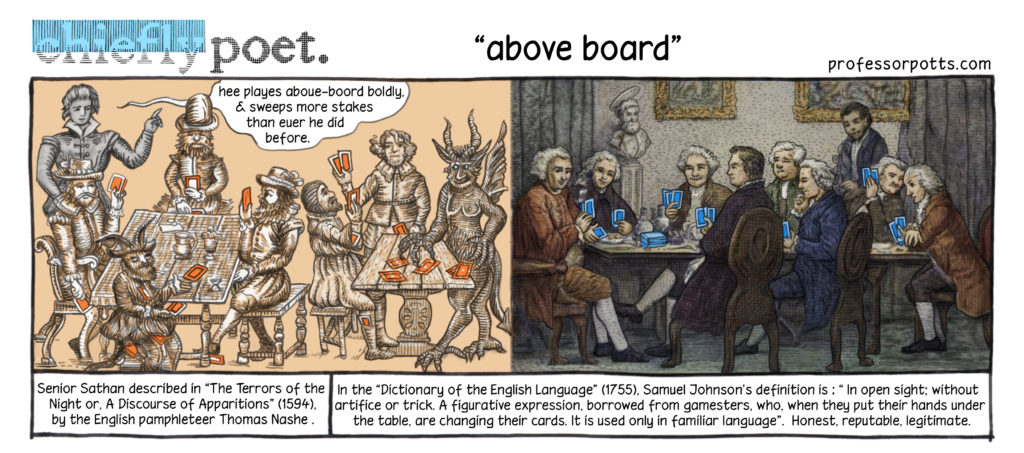 above board idiom origin and meaning illustrated